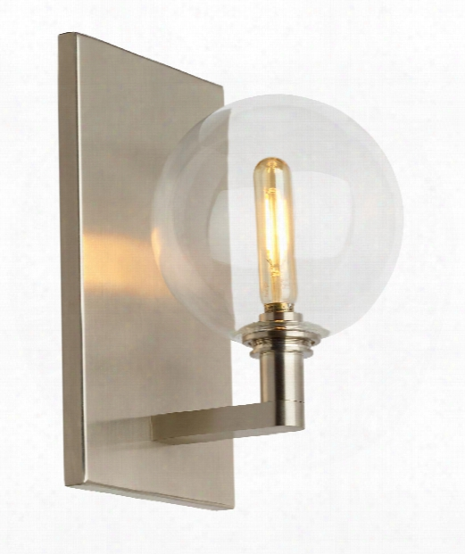 "Gambit 6"" Led 1 Light Wall Sconce In Satin Nickel"