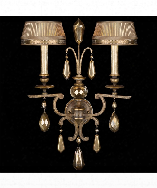 "G Olden Aura 20"" 2 Light Wall Sconce In Gold Patina"