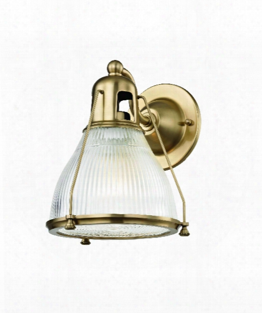"Haverhill 8"" 1 Light Wall Sconce In Aged Brass"