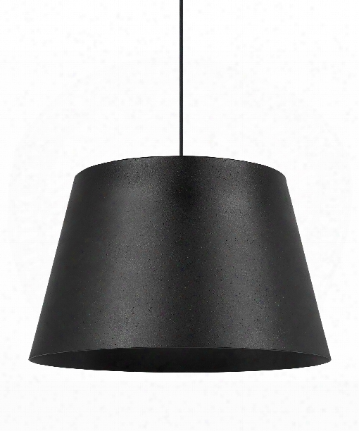 "Henley 18"" 1 Light Large Pendant In Black"