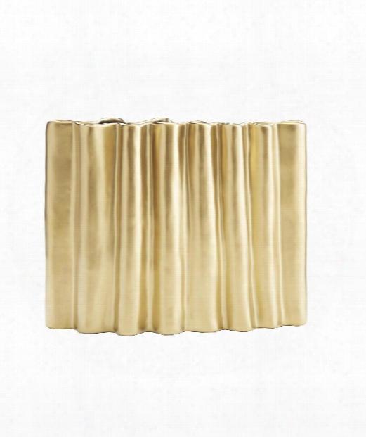 "Howie 16"" Vase-urn In Gold"