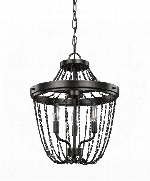 "Kelvyn Park 15"" 3 Light Large Pendant In Stardust"