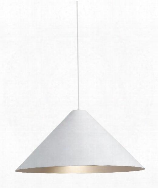 "Konos 28"" 1 Light Large Pendant In White-satin Haze"