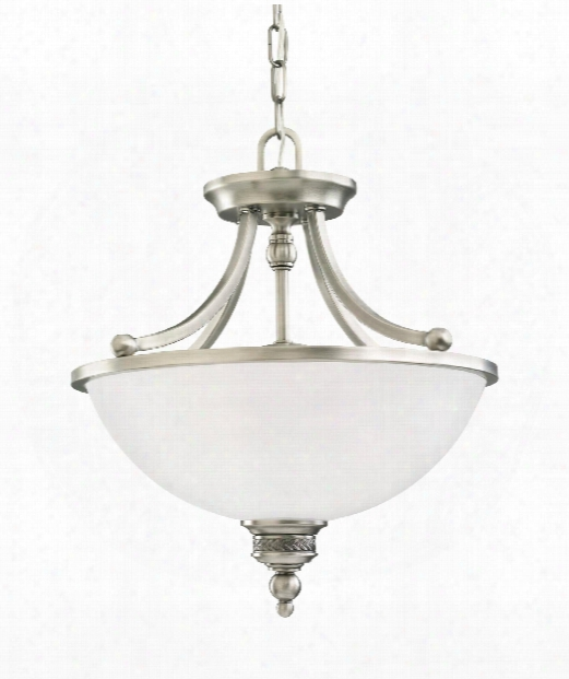 "Laurel Leaf 16"" 2 Light Large Pendant In Antique Brushed Nickel"
