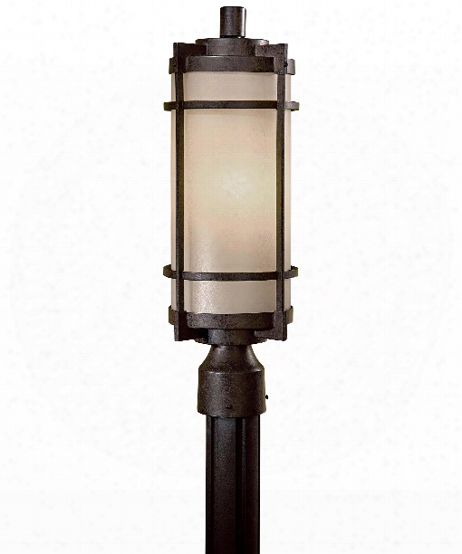 "Mirador 8"" 1 Light Outdoor Outdoor Post Lamp In Textured French Bronze"