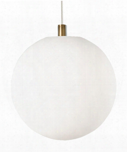 "Palona 14"" Led 1 Light Mini Pendant In Aged Brass"