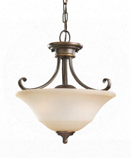 """Parkview 15"""" 2 Light Large Pendant In Russet Bronze"""