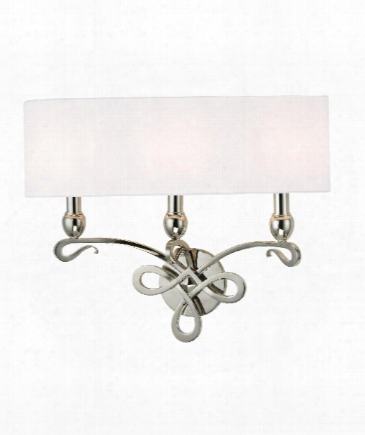 "Pawling 20"" 3 Light Wall Sconce N Polished Nickel"