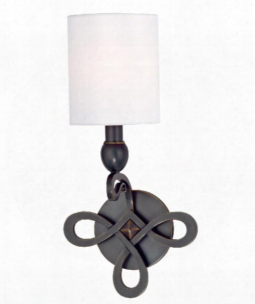 "Pawling 8"" 1 Light Wall Sconce In Old Bronze"