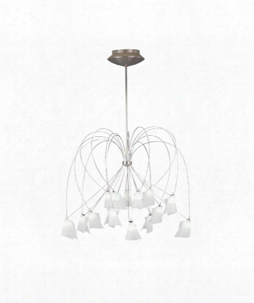 "Rhapsody 32"" 15 Light Chandelier In Chrome"