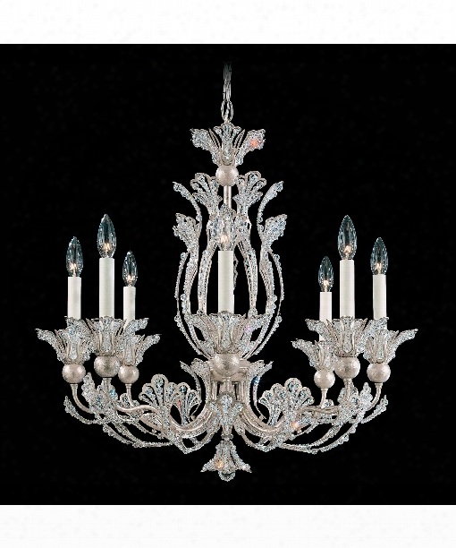 "Rivendell 26"" 8 Light Chandelier In Antique Silver"