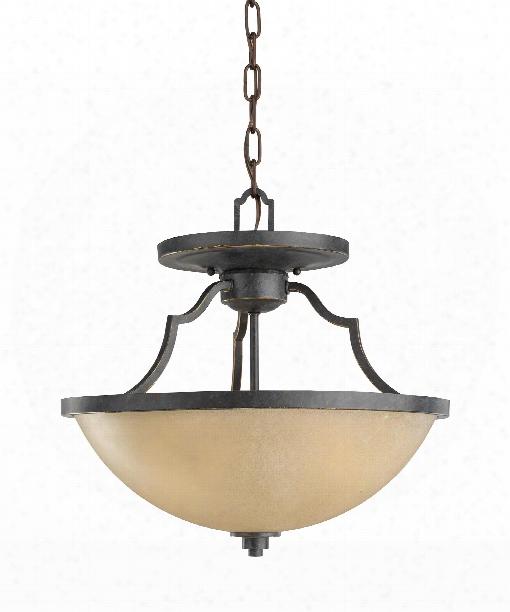"Roslyn 16"" 3 Light Large Pendant In Flemish Bronze"