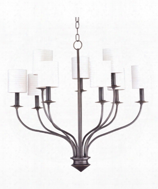 "Sheffield 31"" 9 Light Chandelier In Old Bronze"