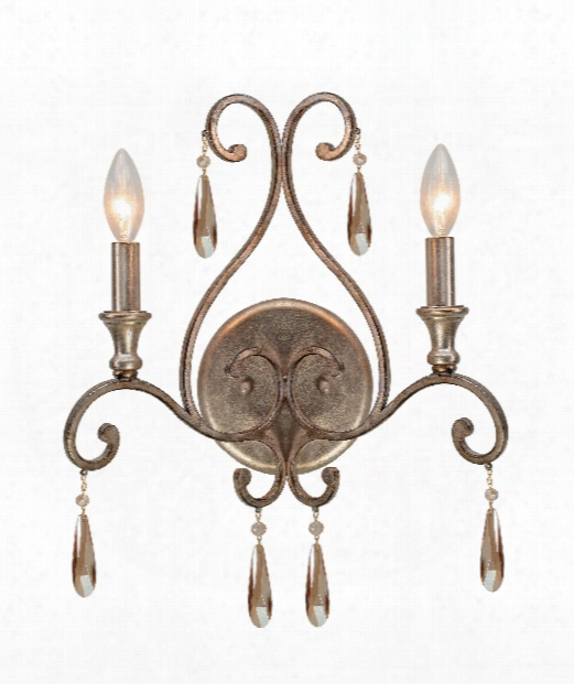 "Shelby 13"" 2 Light Wall Sconce In Distressed Twilight"