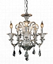"Aurora 20"" 5 Light Mini Chandelier in Chrome"