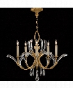 "Beveled Arcs 36"" 5 Light Chandelier in Warm Muted Gold Leaf"