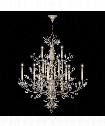 "Crystal Laurel 57"" 20 Light Chandelier in Warm Silver Leaf"