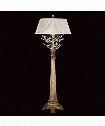 "Crystal Laurel Gold 13"" 1 Light Table Lamp in Gold Leaf"