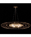 "Entourage 40"" 3 Light Large Pendant in Rich Bourbon with Golden Mist Highlights"
