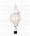 "Frontenac 10"" 4 Light Outdoor Post Lamp in White"