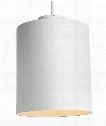 "Hutch 13"" LED 1 Light Large Pendant in Matte White"