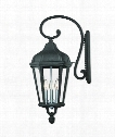 "Morgan 11"" 3 Light Outdoor Outdoor Wall Light in Textured Black"
