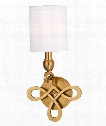 "Pawling 8"" 1 Light Wall Sconce in Aged Brass"