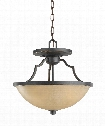 "Roslyn 16"" 3 Light Large Pendant in Flemish Bronze"