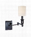 "Whitney 5"" 1 Light Wall Swing Lamp in Old Bronze"