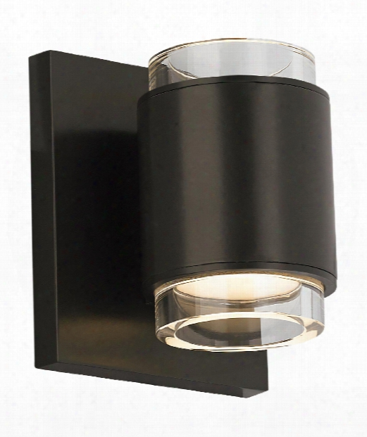 "Voto 4"" Led 1 Light Wall Sconce In Antique Bronze"