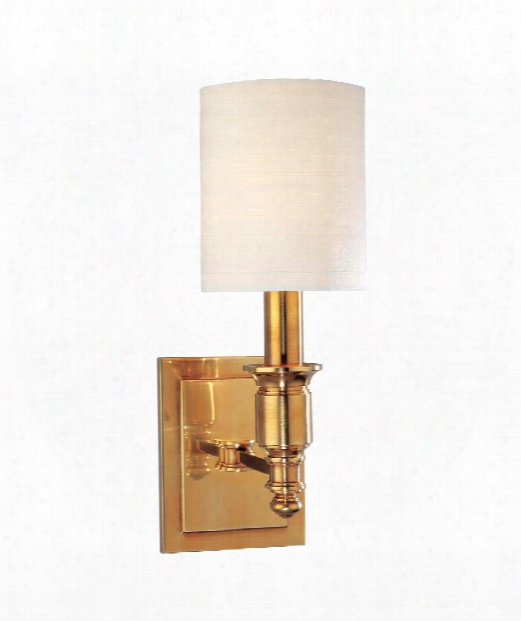 "Whitney 5"" 1 Light Wall Sconce In Aged Brass"