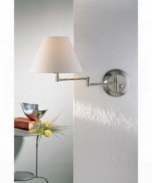 1 Light Wall Swing Lamp In Satin Nickel
