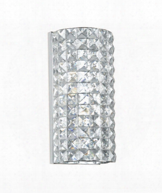 "5"" 2 Light Wall Sconce In Polished Chrome"