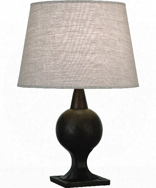 "Aster 7"" 1 Light Table Lamp In Parkerized Iron"