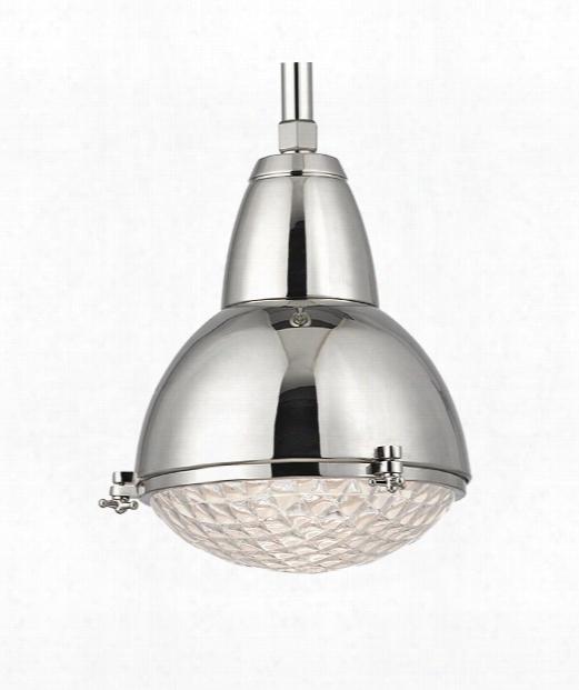 """Belmont 11"""" 1 Light Mini Pendant Iin Polished Nickel"""