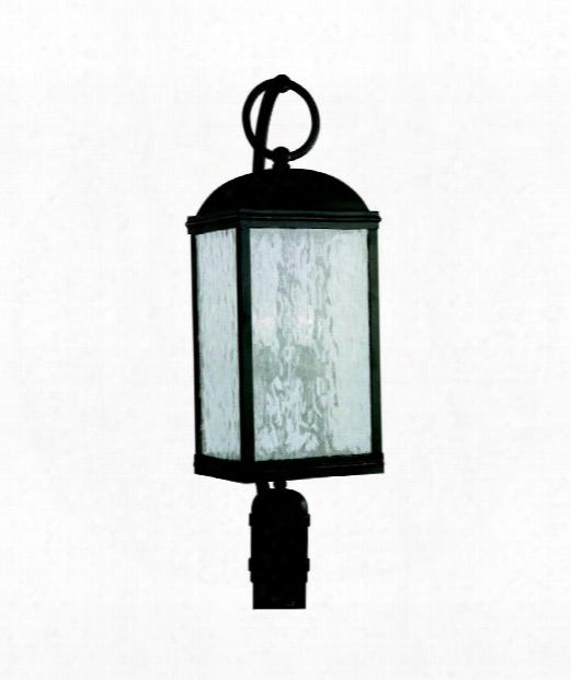 "Branford 9"" 2 Light Outdoor Outdoor Post Lamp In Obsidian Mist"