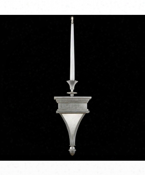 "Candlelight 21st Century 9"" 2 Light Wall Sconce In Clear Silver Leaf"