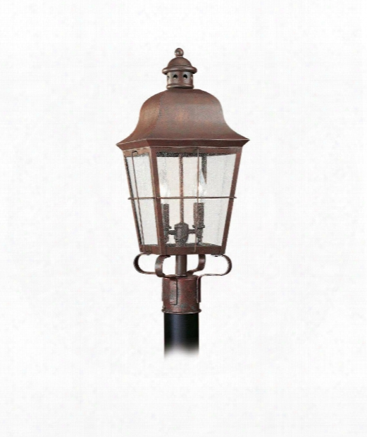 "Chatham 9"" 2 Light Outdoor Outdoor Post Lamp In Weathered Copper"