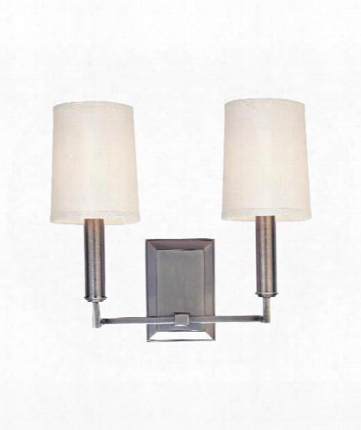 "Clinton 11"" 2 Light Wall Sconce In Antique Nickel"