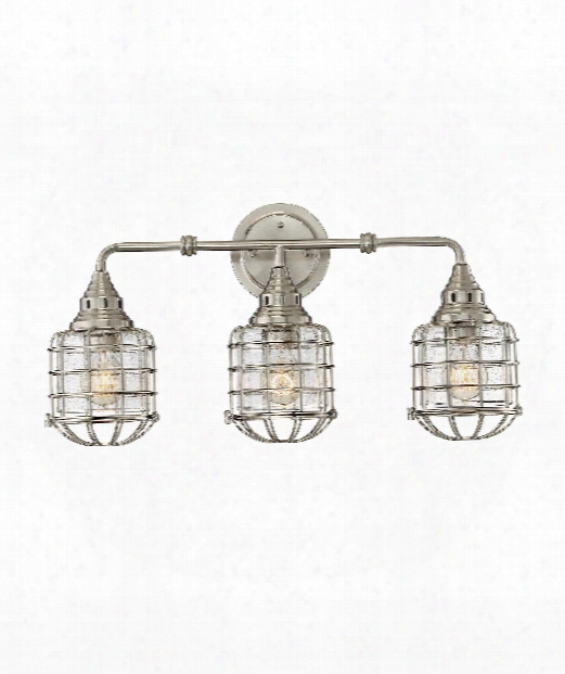 "Connell 23"" 3 Light Bath Vanity Light In Satin Nickel"