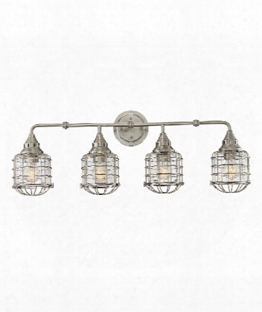 "Connell 34"" 4 Light Bath Vanity Light In Satin Nickel"