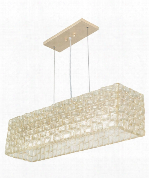 """Constructivism 33"""" 5 Light Island Light In Gold Leaf"""