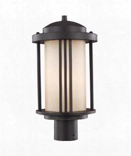 "Crowell 9"" 1 Light Outdoor Outdoor Post Lamp In Antique Bronze"