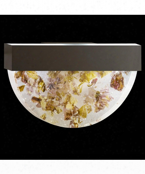 "Crystal Bakehouse 17"" 2 Light Wall Sconce In Bronze"