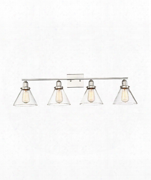 "Drake 39"" 4 Light Bath Vanity Light In Polished Nickel"