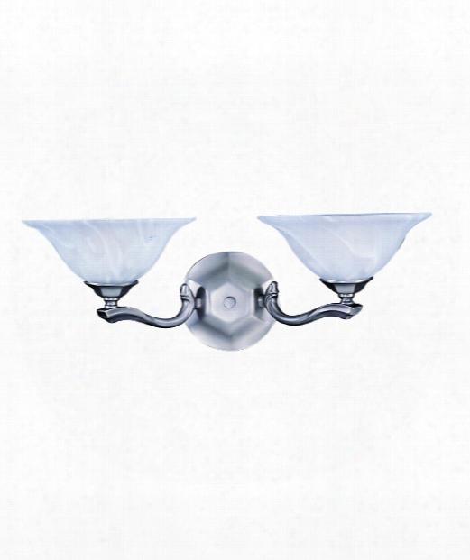 """Fin De Siecle 21"""" 2 Light Bath Vanity Light In Polished Brass"""