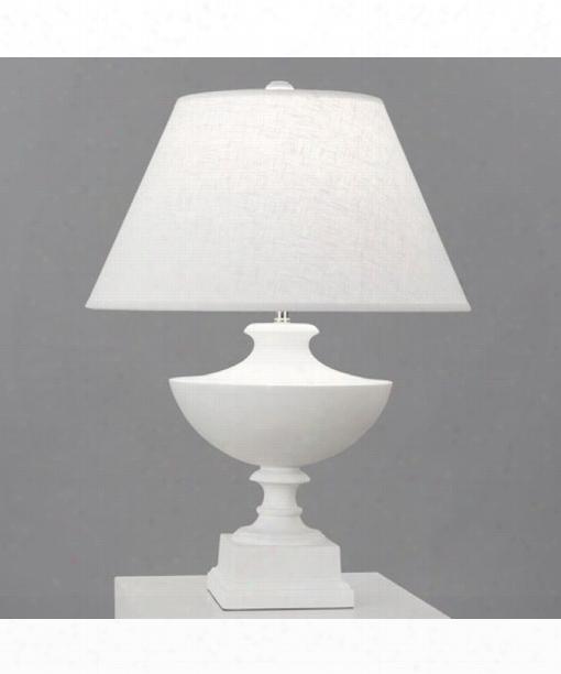 """Freya 6"""" 1 Light Table Lamp In Plaster White"""