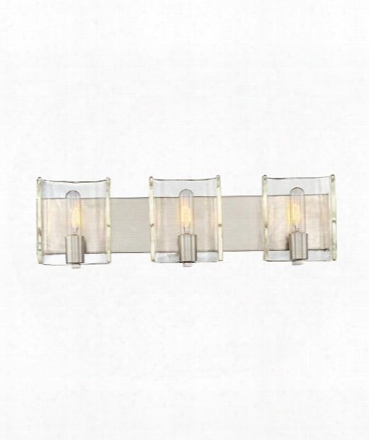 "Handel 25"" 3 Light Bath Vanity Light In Satin Nickel"