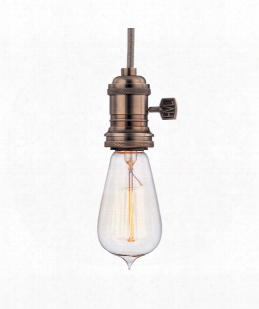 "Heirloom 2"" 1 Light Mini Pendant In Historic Nickel"