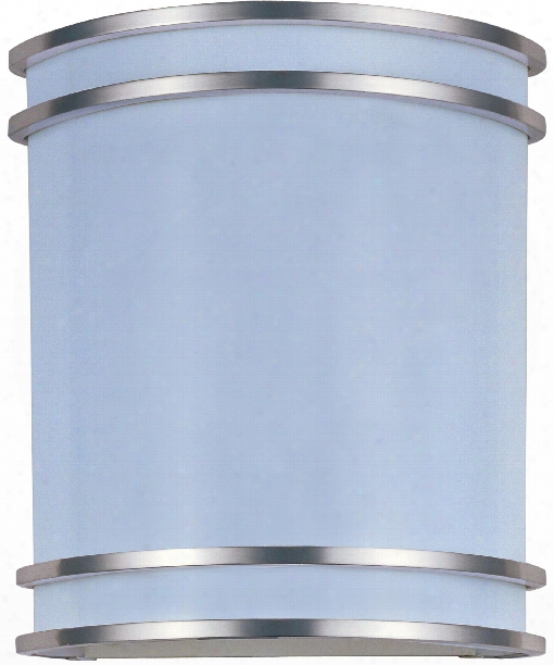 "Linear Ee 10"" 2 Light Wall Sconce In Satin Nickel"